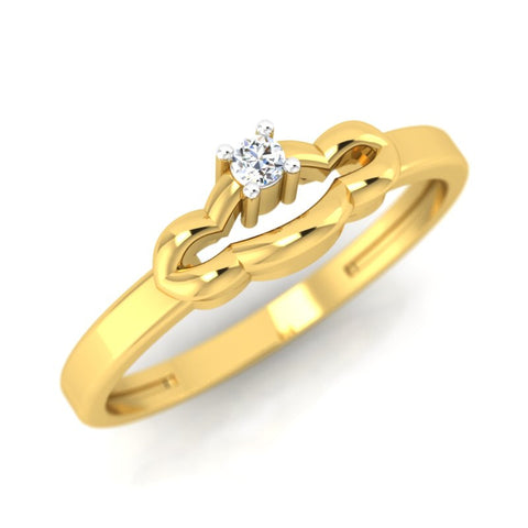 diamond studded gold jewellery - Shaye Casual Ring - Pristine Fire - 1