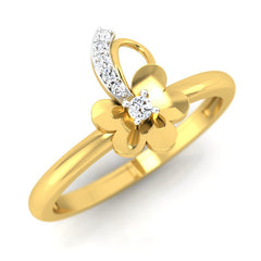 diamond studded gold jewellery - Tish Casual Ring - Pristine Fire - 1