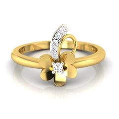 diamond studded gold jewellery - Tish Casual Ring - Pristine Fire - 2