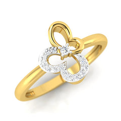 diamond studded gold jewellery - Afua Casual Ring - Pristine Fire - 1