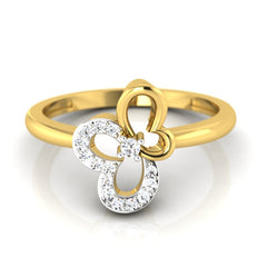 diamond studded gold jewellery - Afua Casual Ring - Pristine Fire - 2