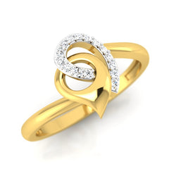 diamond studded gold jewellery - Mistie Casual Ring - Pristine Fire - 1