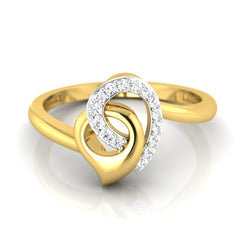 diamond studded gold jewellery - Mistie Casual Ring - Pristine Fire - 2