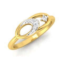 diamond studded gold jewellery - Abrienda Fashion Ring - Pristine Fire - 1