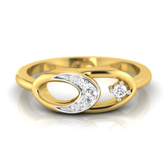 diamond studded gold jewellery - Abrienda Fashion Ring - Pristine Fire - 2