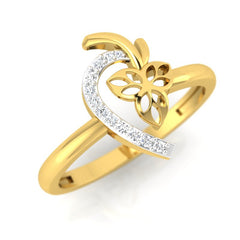 diamond studded gold jewellery - Damonica Fashion Ring - Pristine Fire - 1