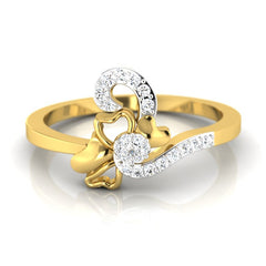 diamond studded gold jewellery - Mallorie Casual Ring - Pristine Fire - 2