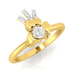 diamond studded gold jewellery - Annmaria Casual Ring - Pristine Fire - 1