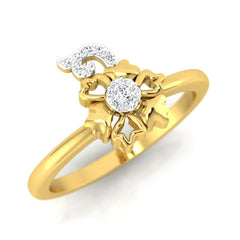 diamond studded gold jewellery - Bibi Casual Ring - Pristine Fire - 1