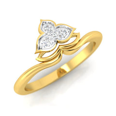 diamond studded gold jewellery - Marianna Casual Ring - Pristine Fire - 1