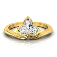diamond studded gold jewellery - Marianna Casual Ring - Pristine Fire - 2