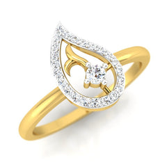 diamond studded gold jewellery - Colette Casual Ring - Pristine Fire - 1