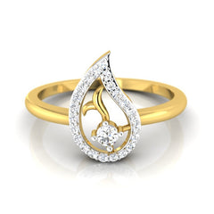 diamond studded gold jewellery - Colette Casual Ring - Pristine Fire - 2