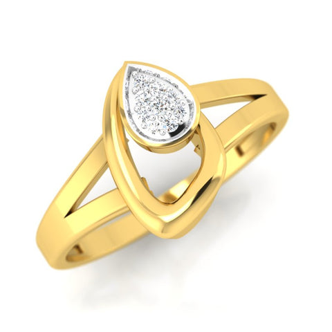 diamond studded gold jewellery - Panthea Casual Ring - Pristine Fire - 1