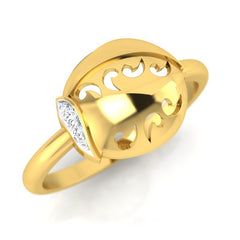 diamond studded gold jewellery - Roshawna Fashion Ring - Pristine Fire - 1