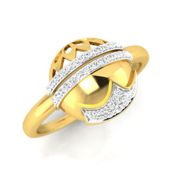 diamond studded gold jewellery - Ruthann Fashion Ring - Pristine Fire - 1