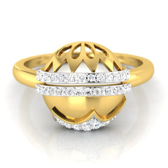 diamond studded gold jewellery - Ruthann Fashion Ring - Pristine Fire - 2