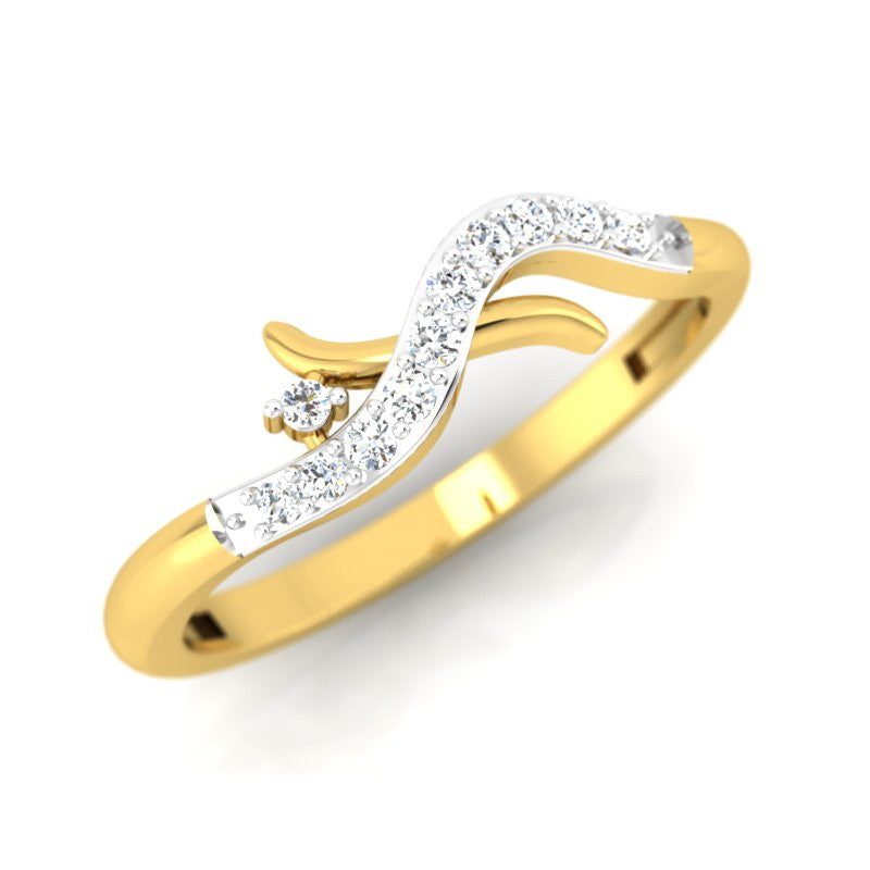 diamond studded gold jewellery - Missy Casual Ring - Pristine Fire - 1