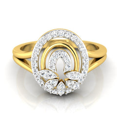 diamond studded gold jewellery - Josianne Casual Ring - Pristine Fire - 2