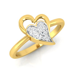 diamond studded gold jewellery - Jocelynn Casual Ring - Pristine Fire - 1