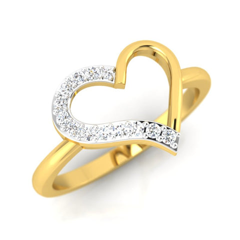 diamond studded gold jewellery - Brieanna Casual Ring - Pristine Fire - 1