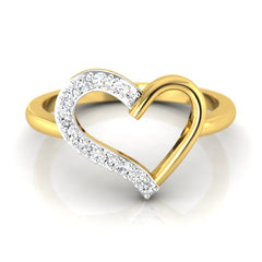 diamond studded gold jewellery - Brieanna Casual Ring - Pristine Fire - 2