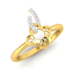diamond studded gold jewellery - Chassidy Casual Ring - Pristine Fire - 1