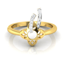 diamond studded gold jewellery - Chassidy Casual Ring - Pristine Fire - 2