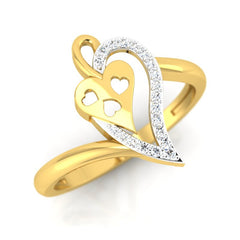 diamond studded gold jewellery - Tita Fashion Ring - Pristine Fire - 1