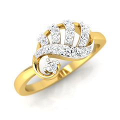 diamond studded gold jewellery - Ada Casual Ring - Pristine Fire - 1