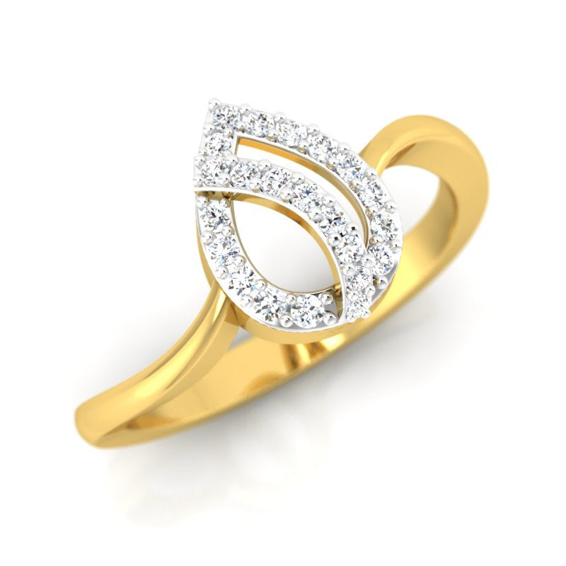 diamond studded gold jewellery - Fay Casual Ring - Pristine Fire - 1