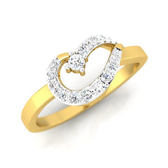 diamond & gold Flo Casual Ring - Pristine Fire - 1