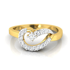 diamond & gold Flo Casual Ring - Pristine Fire - 2