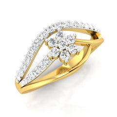diamond studded gold jewellery - Ida Casual Ring - Pristine Fire - 1