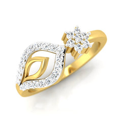 diamond & gold Ila Casual Ring - Pristine Fire - 1