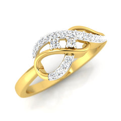 diamond studded gold jewellery - Joy Casual Ring - Pristine Fire - 1