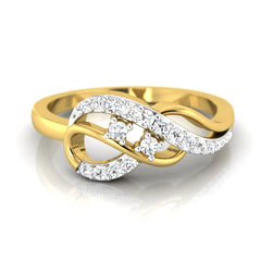 diamond studded gold jewellery - Joy Casual Ring - Pristine Fire - 2