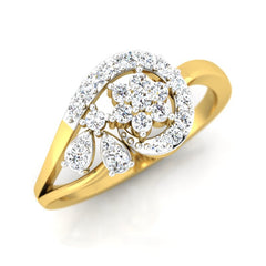 diamond studded gold jewellery - Kay Casual Ring - Pristine Fire - 1