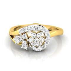 diamond studded gold jewellery - Kay Casual Ring - Pristine Fire - 2