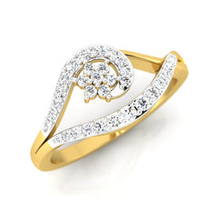 diamond studded gold jewellery - Kim Casual Ring - Pristine Fire - 1