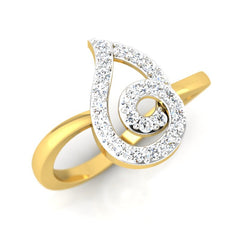 diamond studded gold jewellery - Liv Casual Ring - Pristine Fire - 1
