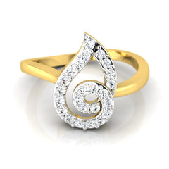 diamond studded gold jewellery - Liv Casual Ring - Pristine Fire - 2
