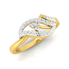 diamond studded gold jewellery - Mya Casual Ring - Pristine Fire - 1
