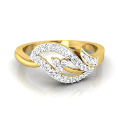 diamond studded gold jewellery - Mya Casual Ring - Pristine Fire - 2