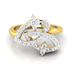 diamond studded gold jewellery - Ode Fashion Ring - Pristine Fire - 2