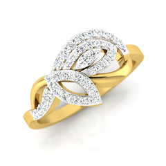 diamond studded gold jewellery - Ria Casual Ring - Pristine Fire - 1