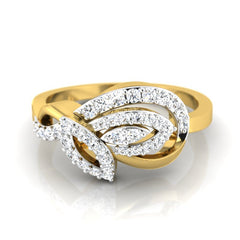 diamond studded gold jewellery - Ria Casual Ring - Pristine Fire - 2
