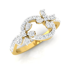 diamond studded gold jewellery - Roz Casual Ring - Pristine Fire - 1