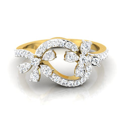 diamond studded gold jewellery - Roz Casual Ring - Pristine Fire - 2