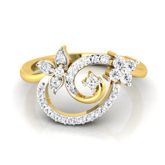 diamond studded gold jewellery - Sue Casual Ring - Pristine Fire - 2